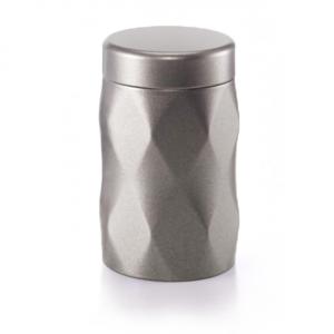 Moderní dóza na čaj Krystal - barva kovu